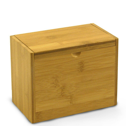 4x6 Unengraved Bamboo Recipe Card Box