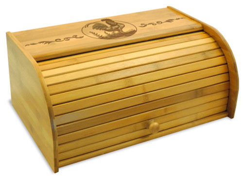 Rooster Bamboo Bread Bin