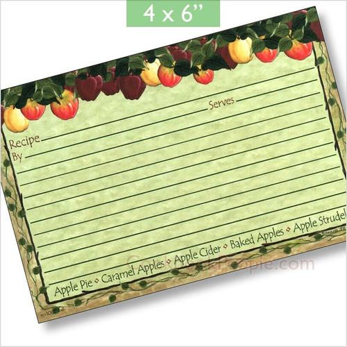 4x6 Apple Cider Recipe Card