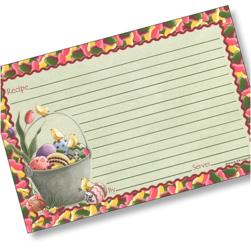 4x6 Easter Chicks Recipe Card