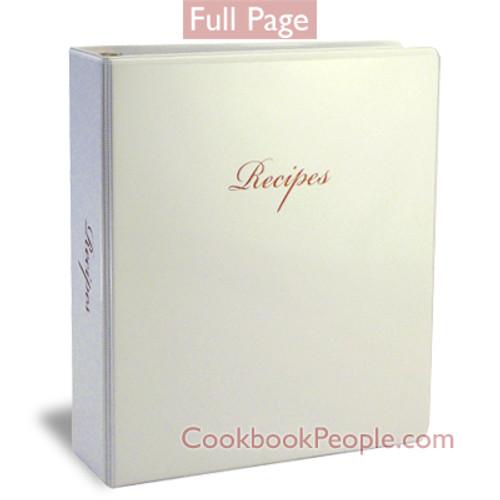 Full Page Family Recipe Book Binder Kit