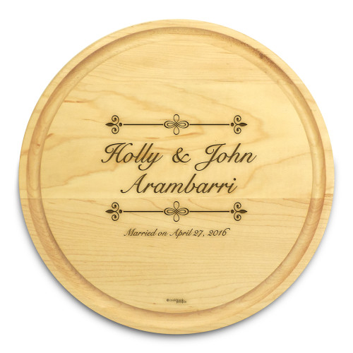 Bliss 10in Circle Maple Cutting Board with Juice Groove