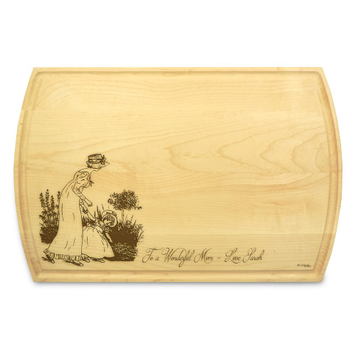 Mother Daughter 10x16 Grooved Cutting Board