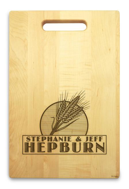 Wheat Grain 10x16 Handle Custom Cutting Board