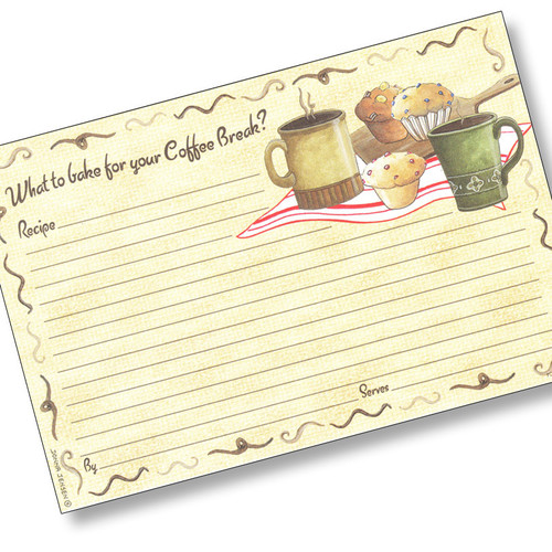 4x6 Muffin to Go Recipe Card