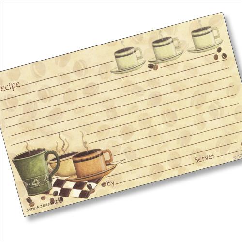3x5 Coffeebreak Recipe Card