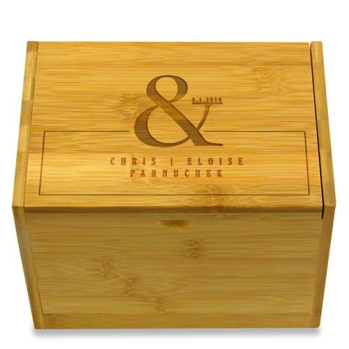 Ampersand Personalized 4x6 Recipe Box