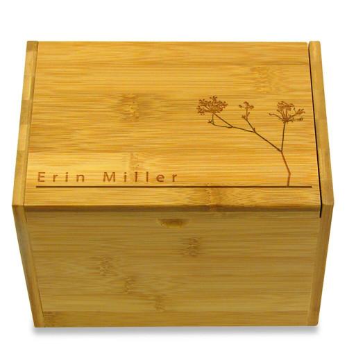 Autumn Personalized 4x6 Recipe Card Box