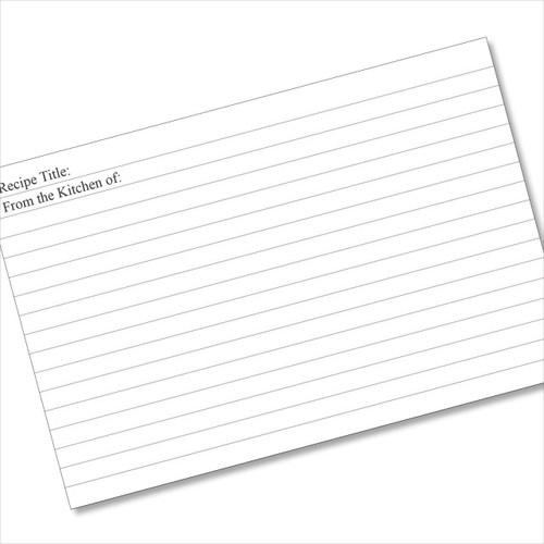 4x6 Recipe Card Lined Plain 40ea