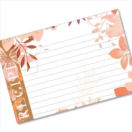 4x6 Recipe Card Jungle Boogie Pink 40ea