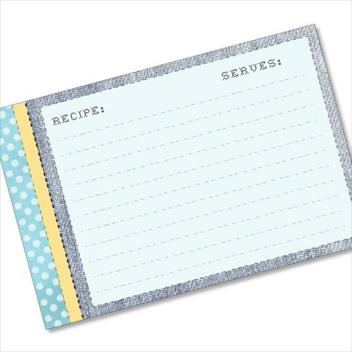 4x6 Recipe Card Stitches and Polkadots 40ea