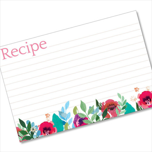 4x6 Recipe Card Underbrushstrokes Pink and Blue 40ea