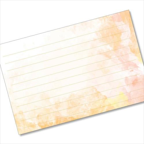 4x6 Recipe Card Terra Cotta Orange Index Card or 40ea