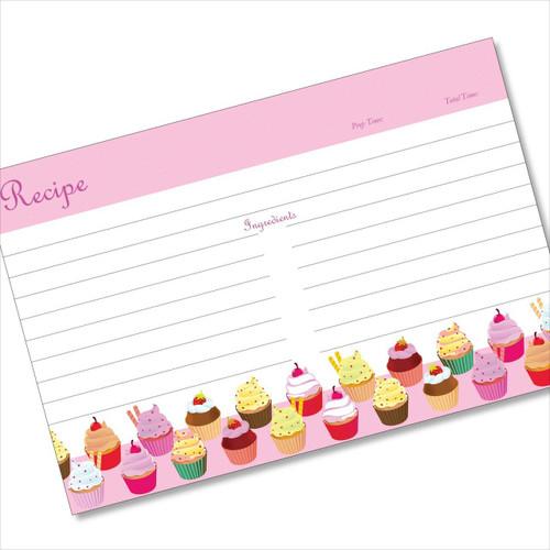4x6 Recipe Card 21 Cupcake Salute Pink 40ea