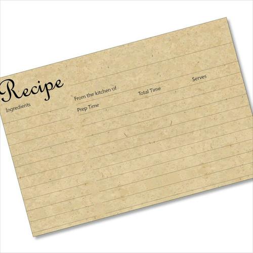 4x6 Recipe Card Not Cardboard but Looks Like It 40ea