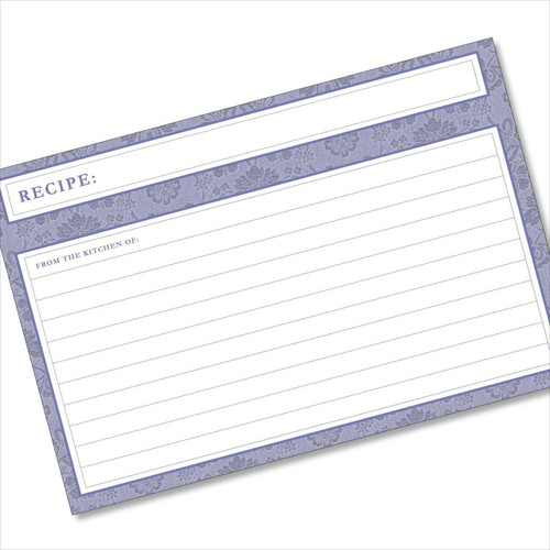 4x6 Recipe Card Agatha Navy Blue 40ea