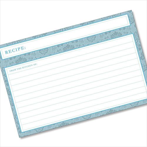 4x6 Recipe Card Agatha Sky Blue 40ea