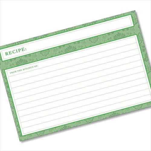 4x6 Recipe Card Agatha Leafy Green 40ea