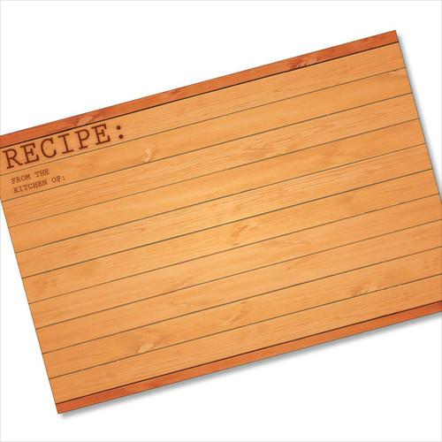 4x6 Recipe Card Woodwork Brown 40ea
