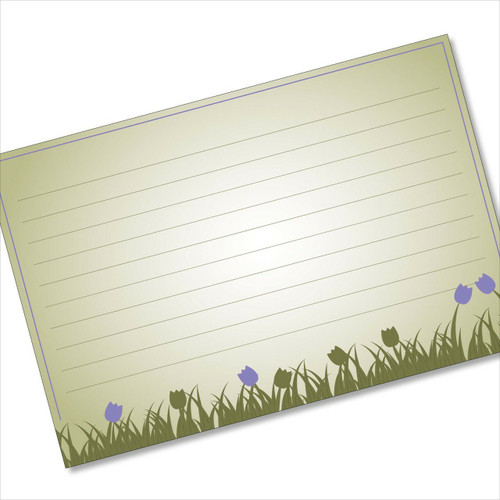 4x6 Recipe Card Purple Tulip Romance 40ea