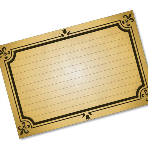 4x6 Recipe Card Formal Card Ancient Brown 40ea