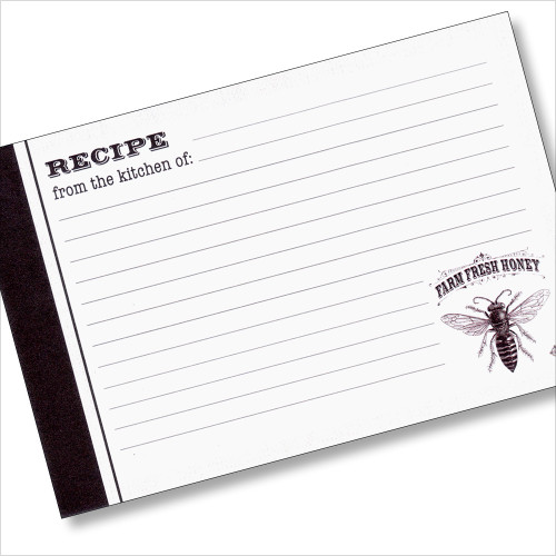 4x6 Recipe Card 36 cards - Honey Bee Farm