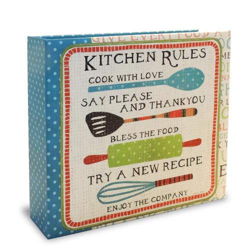 Half Page Recipe Organizer - Kitchen Rules