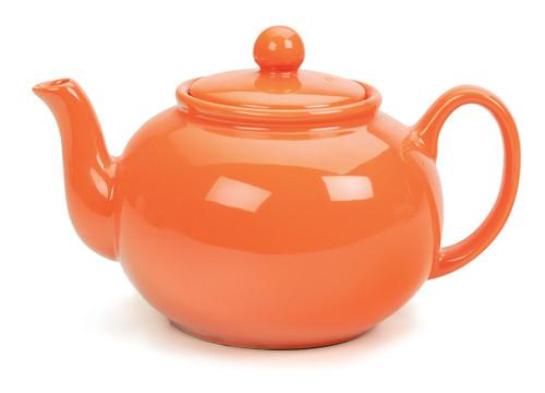 Stoneware Tea Pot Orange