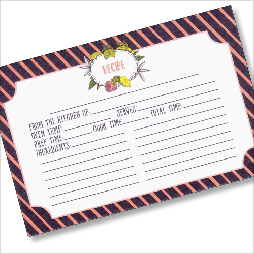 4x6 LemonDrop Recipe Card - 40 ea