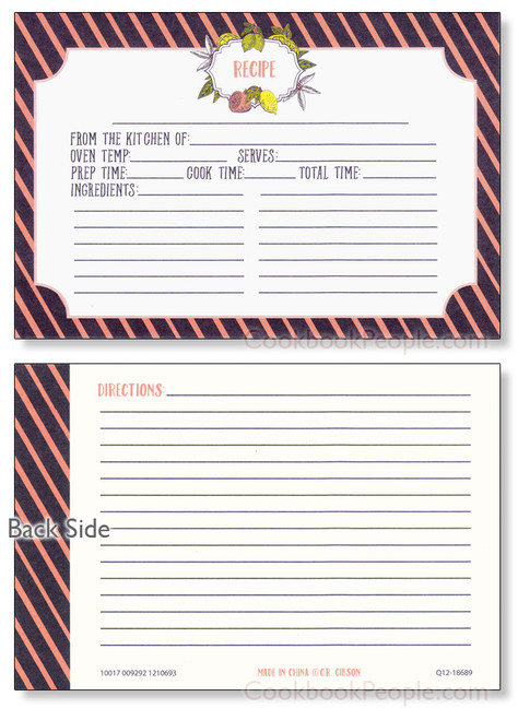 4x6 LemonDrop Recipe Card - 40 ea