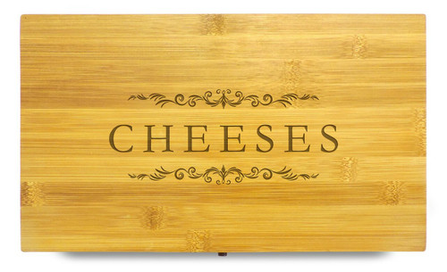 Cheese Selection Dinner Party Multikeep Box Wooden Organizer