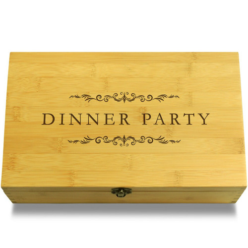 Dinner Party Filigree Wood Chest Lid