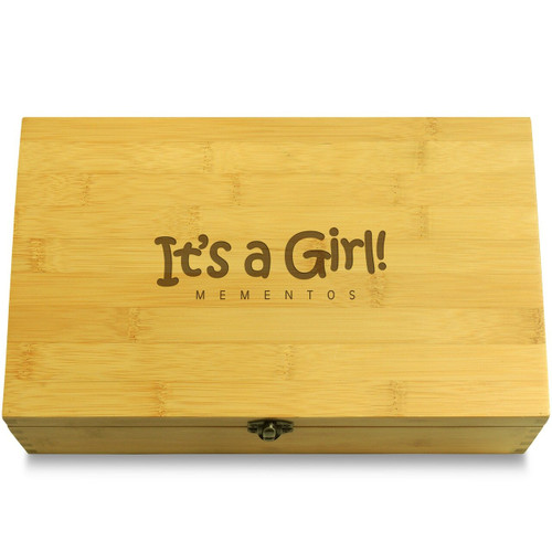 It's a Girl Softer Font Chest Lid