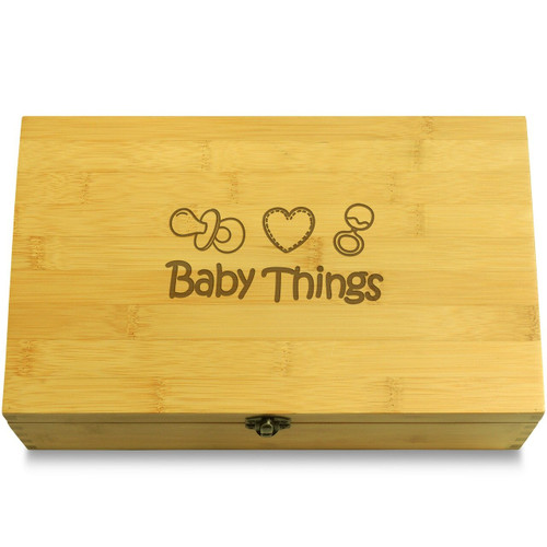 Pacifier Wood Chest Lid