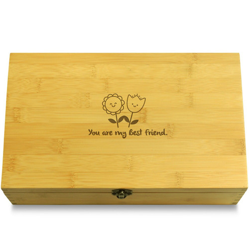 You are my Best Friend Flowers Box Lid