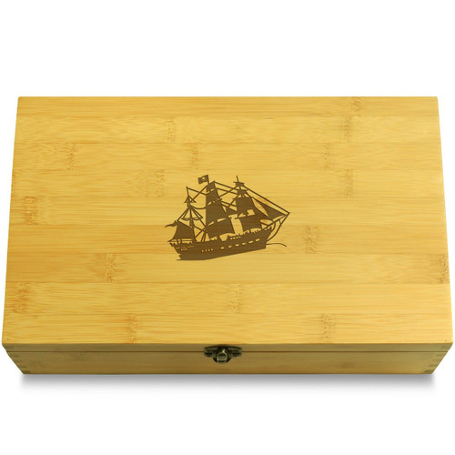 Pirate Graphic Wooden Box Lid