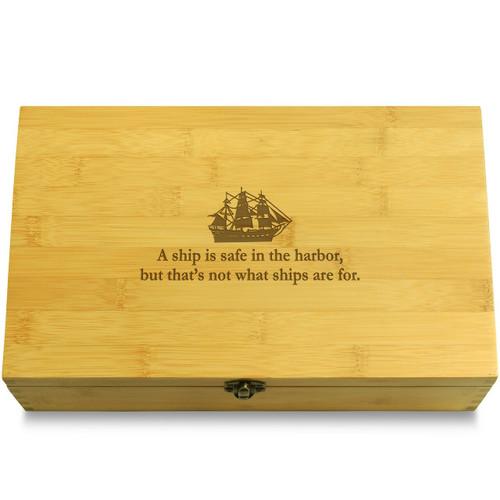 Ship Harbor Quote Organizer Box Lid