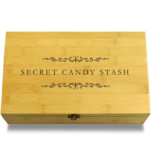Secret Candy Stash Filigree Wooden Chest Lid