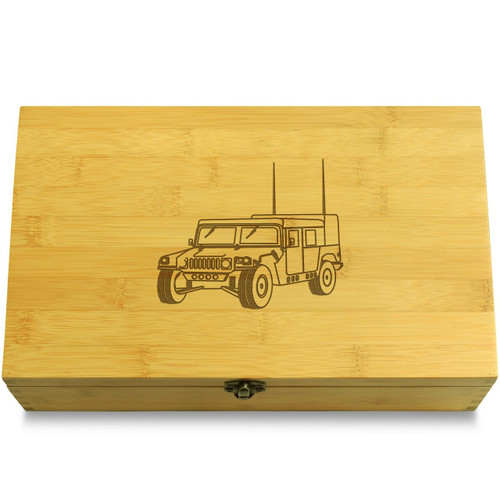 Humvee Army Truck Wooden Box Lid