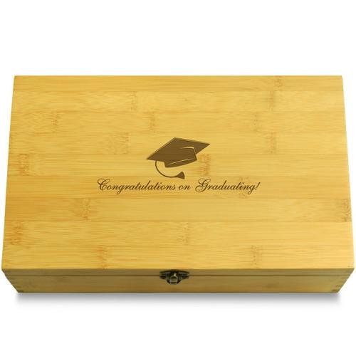 Congrats On Graduating Wooden Box Lid