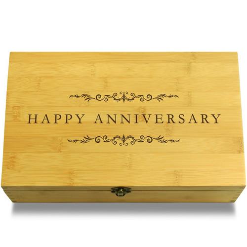 Happy Anniversary Filigree Chest Lid