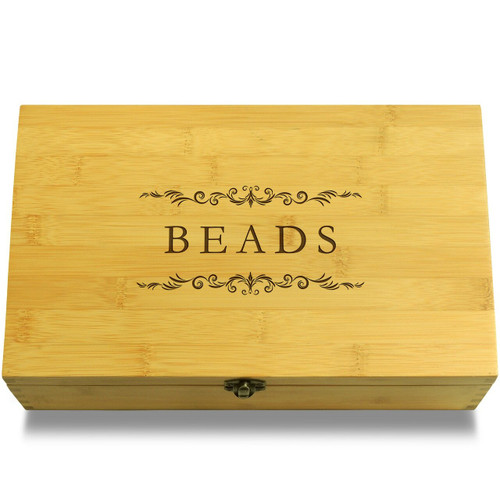 Beads Wood Chest Lid