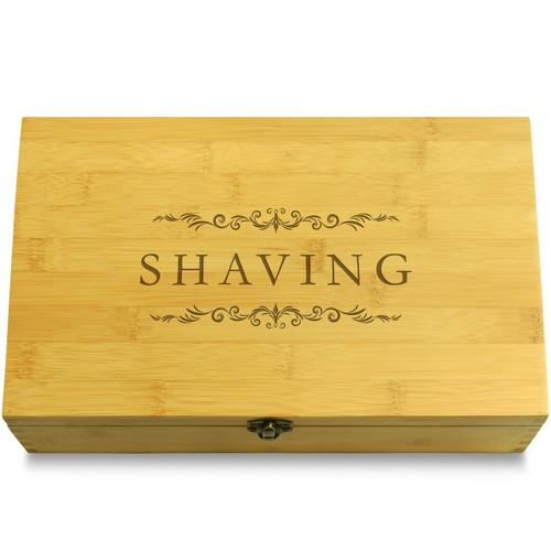 Shaving Necessities Bathroom Wooden Box Light Wood Organizer