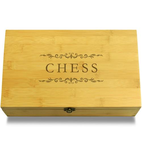 Chess Filigree Wooden Box Lid