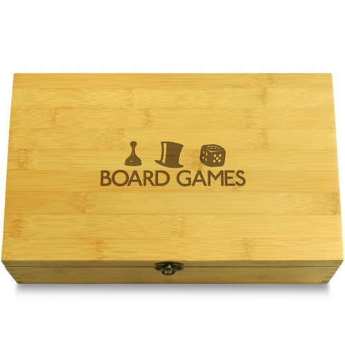 Board Game Pieces Monopoly Wooden Chest Lid