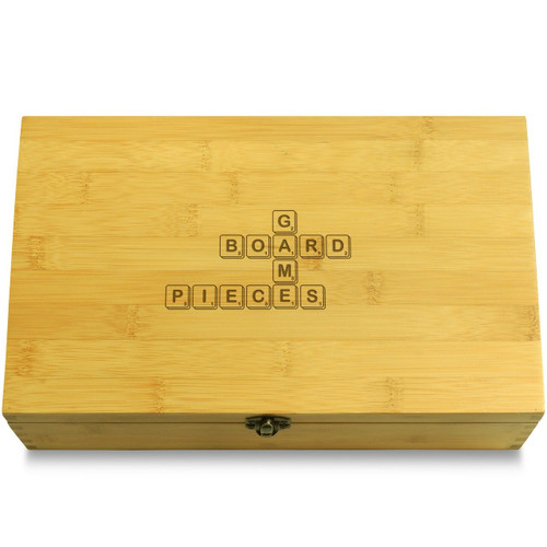 Scrabble Board Games Organizer Chest Lid