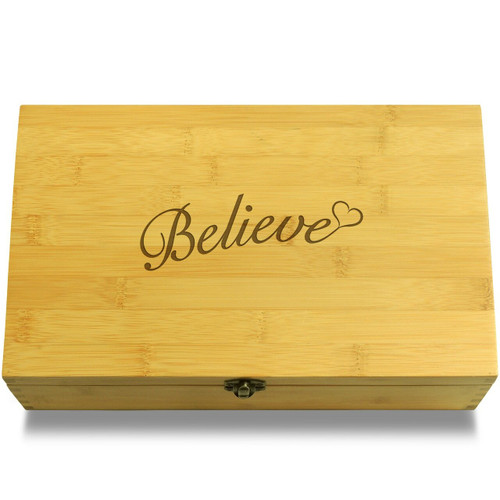 Believe Wooden Chest Lid