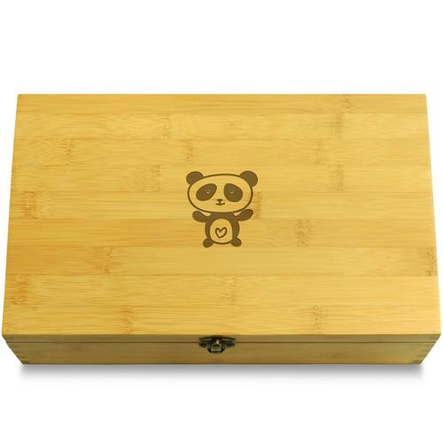 Panda Wood Chest Lid