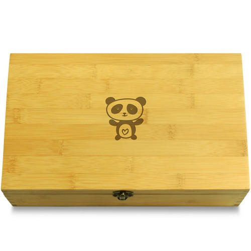Panda Wood Chest Lid