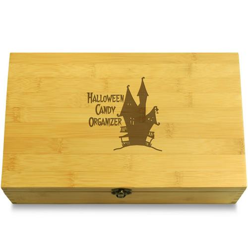 Haunted House Happy Halloween Wooden Box Lid
